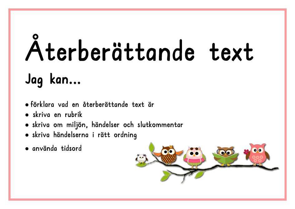 skriva text till bilder Återberättande text | skriva text till bilder